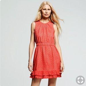 Peter Som Coral Eyelet Spring/Summer dress sz 6
